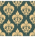Damask seamless pattern in beige and grey colors vector image vector image