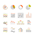 Different graphic ratings and charts Lineart vector image vector image