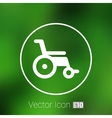 disabled icon sign wheelchair handicap vector image vector image