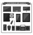electronic and gadgets pack vector image vector image