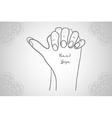 Element yoga Turtle mudra hands vector image vector image
