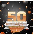 Fifty years anniversary celebration background vector image vector image