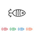 fish shaped bait icon vector image vector image
