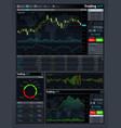 forex market app interface with business vector image vector image