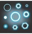 Glowing light burst circles on a plaid dark black vector image vector image