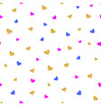 gold glittering heart confetti seamless pattern vector image vector image