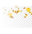 golden holiday confetti random falling vector image vector image