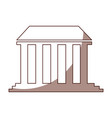 governmental building isolated icon vector image vector image
