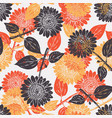graphical hand-drawn sunflower plant pattern vector image vector image