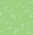 green seamless pattern with sour apples vector image