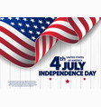 happy 4th july usa independence day vector image