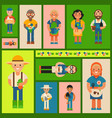 happy farmers old and young vector image