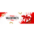 happy valentines day holiday banner vector image vector image