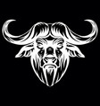 head mascot african buffalo vector image