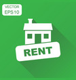 house for rent icon business concept house rent vector image
