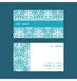 light blue swirls damask horizontal stripe vector image vector image