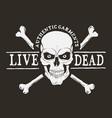 live dead logo vector image