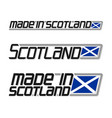 made in scotland vector image vector image