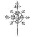 medieval steeple cross vintage vector image vector image