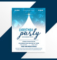 merry christmas celebration party flyer design vector image vector image