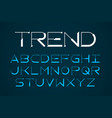 modern thin font trendy style english alphabet vector image vector image