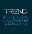 Modern thin font trendy style english alphabet vector image