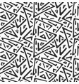 monochrome chaotic tribal triangles pattern vector image