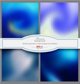 Mosaic gradient geometric background vector image