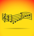 Music notes vector image vector image