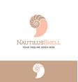 nautilus shell logo vector image