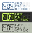 Page in not found error 404 message vector image vector image
