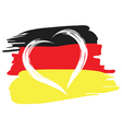 painted german flag with heart shape symbol vector image vector image