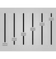 panel console sound mixer 03 vector image