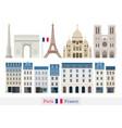 paris france building landmarks vector image vector image