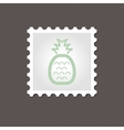 Pineapple stamp Outline vector image vector image