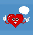 red heart with happy face vector image vector image