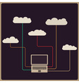 Retro style cloud computing concept vector | Price: 1 Credit (USD $1)