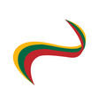 ribbon in the color of the flag of lithuania vector image vector image