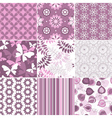 seamless pastel pink-white patterns vector image vector image