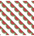 seamless watermelon pattern fruit icons vector image