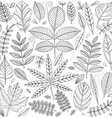 Set of outline leaves vector image vector image