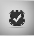 shield with check mark icon vector image vector image