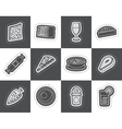 Shop food and drink icons 2 vector image vector image