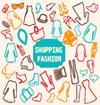 shopping Fashion clothing vector image vector image