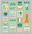 st patricks day funny stickers vector image