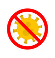 stop virus virus outbreak protection against vector image vector image