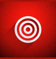 target on red background vector image