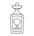 tequila bottle icon outline style vector image