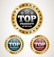 Top product badge vector | Price: 1 Credit (USD $1)