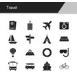 travel icons design for presentation graphic vector image vector image
